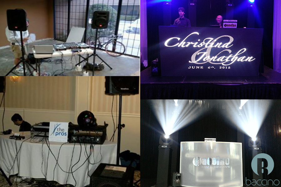 Professional wedding DJ setup vs amateur DJ setup