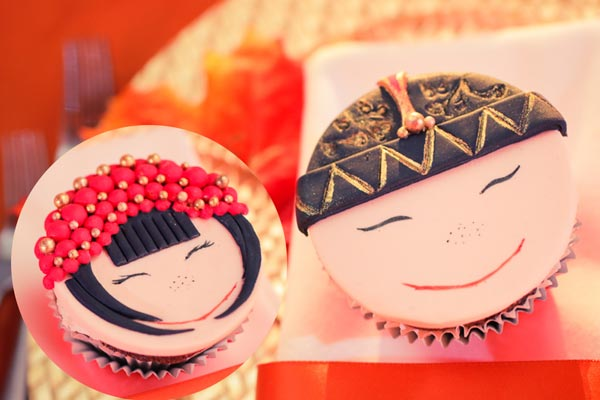 Custom chocolates, cupcakes & cookies for Chinese Montreal wedding