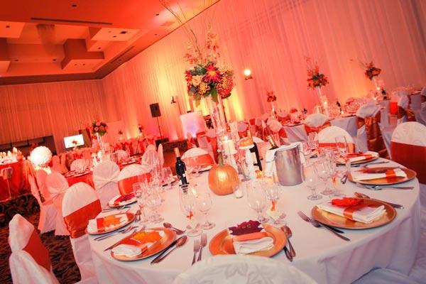 Fall in love theme wedding