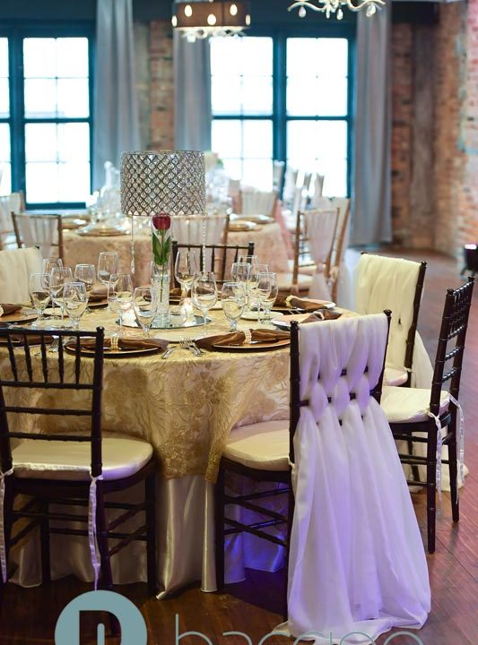 Classic gold white and brown wedding table
