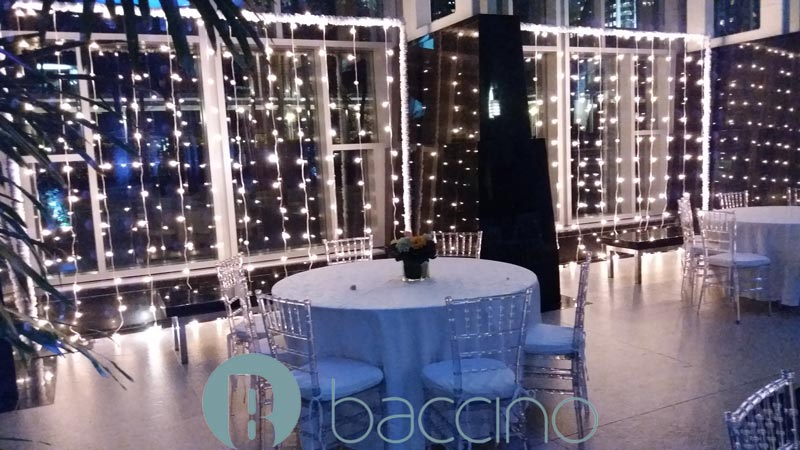 Custom lighting corporate event