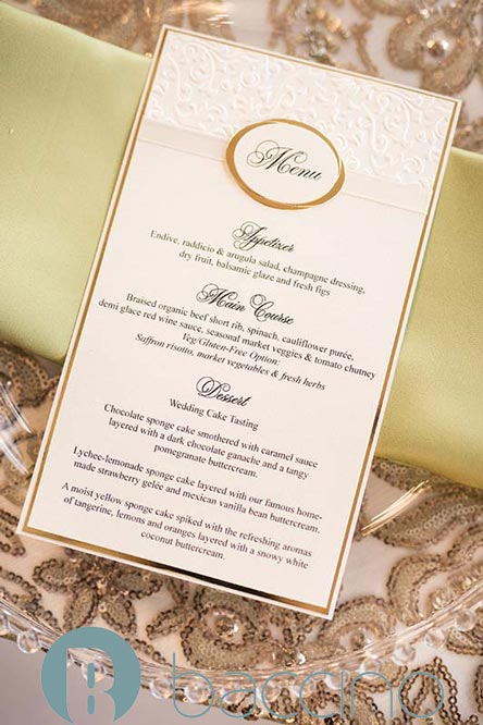 Personalized menu and paper goods