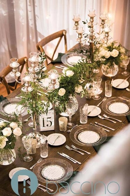 Rustic table decor for social event