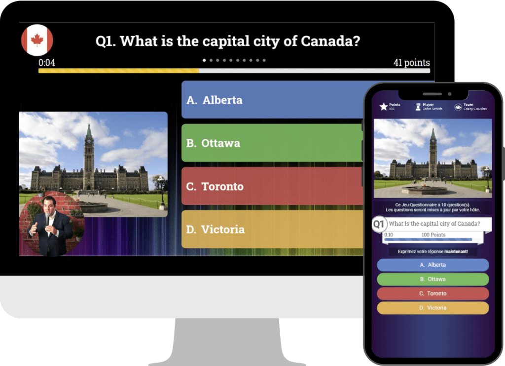 Virtual interactive trivia game